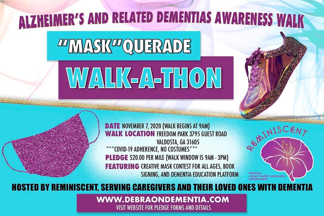 Mask Querade Walk a Thon Flyer 2020