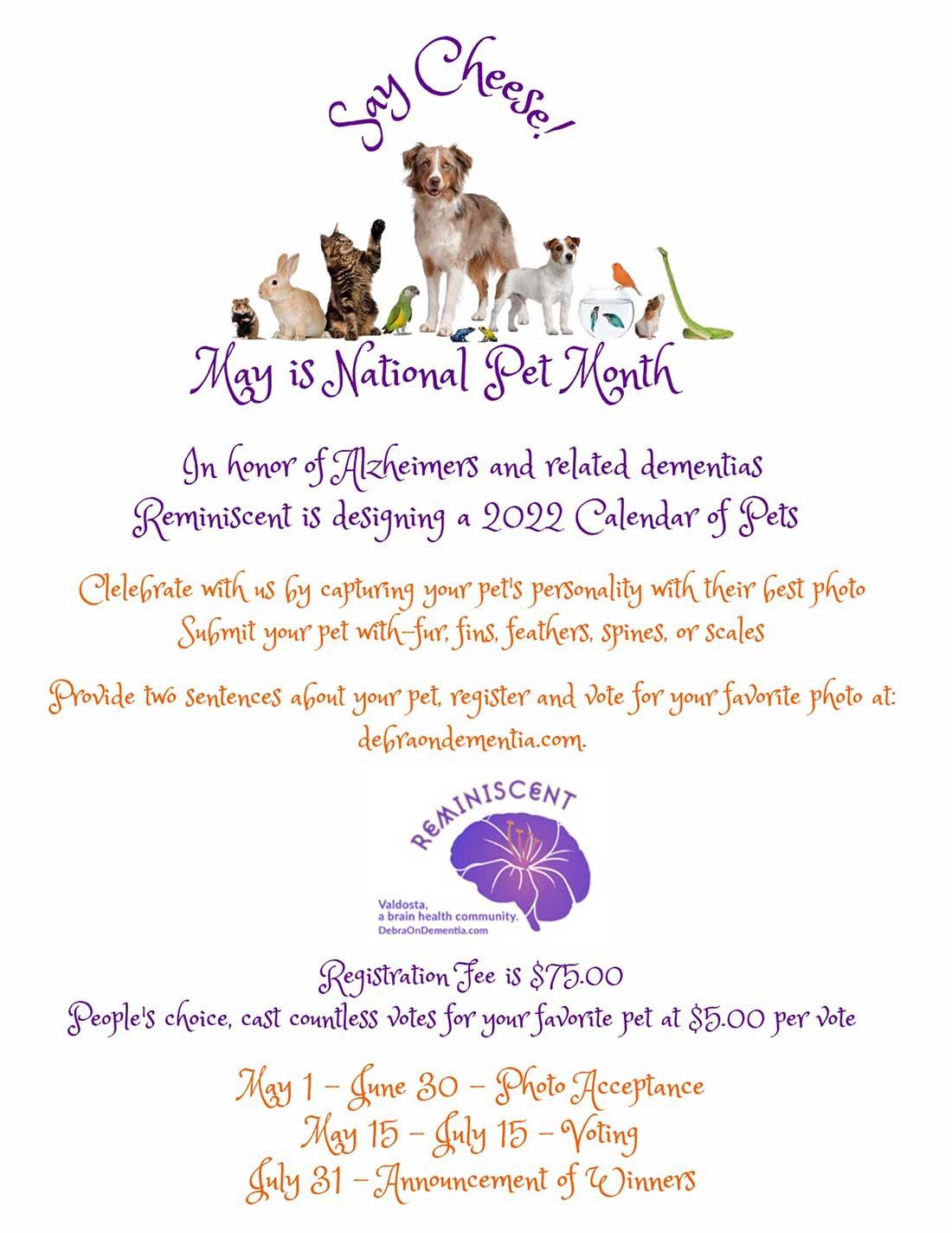 Pet Calendar Fundraiser
